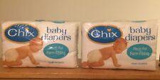 VTG 24 Redi-FOL Cotton Cloth Diapers by CHIX - Gauze Johnson & Johnson BNIP!