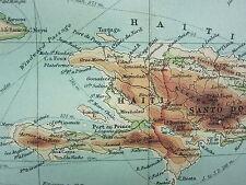 1921 mappa di grandi dimensioni ~ WEST INDIES Cuba Haiti Giamaica PORTO RICO Trinidad KINGSTON