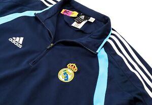 Adidas Real Madrid Sweatshirt Track Jacket Blue Mens Medium Football Vintage