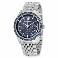 EMPORIO ARMANI BLUE DIAL CHRONOGRAPH STAINLESS STEEL MEN WATCH AR6072