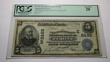 $5 1902 Tyrone Pennsylvania PA National Currency Bank Note Bill Ch. #6499 PCGS