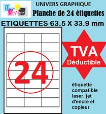 2,400 Etiquettes à imprimer pour timbre Mon timbre en ligne 63,5 x 33,9 mm 70gsm