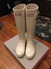 Hunter Rain Boots size : 7 color: cream