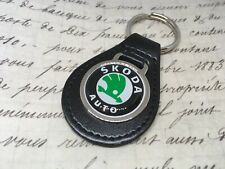 Skoda Quality Black Real Leather Keyring OCTAVIA FABIA SUPERB KODIAQ VRS