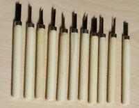 ETS 50058 Bastlermeißel Set 12-teiig mit Holzstiel L=10,5cm