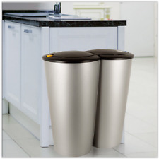 Kitchen Recycling Bin Double Waste Can Garbage Rubbish Dustbin Indoor Outdoor UK