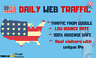 Organic Web Traffic From USA with Low Bounce Rate