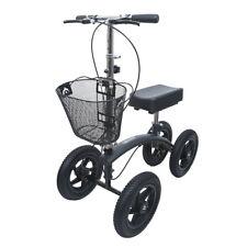 BodyMed All-Terrain Knee Walker, Black – Foldable Orthopedic Scooter for Ankle