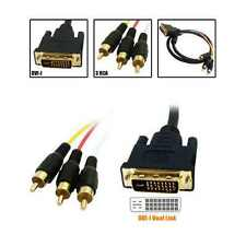 3M DVI to RCA Cable DVI-I 25+5pin to 3 RCA Gold AV Adapter Cable for HDTV PC LCD