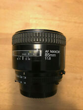 NIKON 85mm f/1.8 AF Nikkor, Good Condition and  Optics + cap + soft case