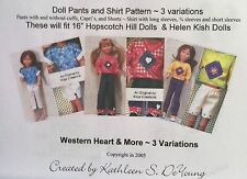 "Play Clothes PATTERN for 16"" Hopscotch Hill American Girl Doll"