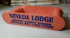 Vintage NEVADA CLUB Reno & NEVADA LODGE Lake Tahoe Slot Machine Token Coin Tray