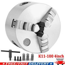 4inch Lathe Chuck K11 100 3 Jaw Self Centering Jaw 100mm Milling Machine