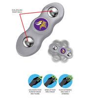 New NFL Minnesota Vikings 2 in 1 Flik Fidget Hand Spinner Rolling Balls