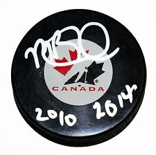 MIKE BABCOCK SIGNED TEAM CANADA Puck NHL STAR 2010 2014 GOLD AUTOGRAPHED +COA
