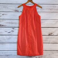 Muse Burnt Orange Eyelet Lace Sleeveless Dress Size 6