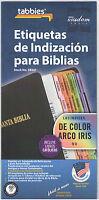 SPANISH BIBLE INDEXING TABS Old & New Testaments Rainbow Tabbies 58347