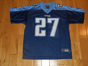 Vintage 1990s Nike EDDIE GEORGE TENNESSEE TITANS Youth NFL Team REPLICA JERSEY L