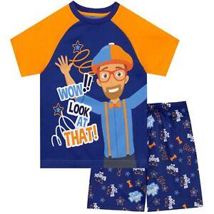 Kids Blippi Pyjamas   Boys Blippi Short Pajama Set   Kids PJ Set