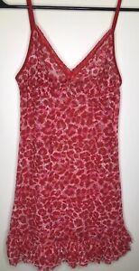 Victoria's Secret Pink & Red Animal Print Chemise Petite XS/S, Nightie, Babydoll
