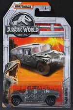 2018 Matchbox Jurassic World™ #6 Ingen (AM General®) Humvee® SILVER / MOC