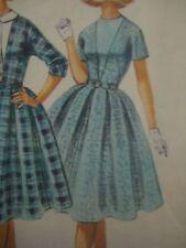 Vintage 1960s McCalls 5482 DRESS w/ DICKEY & DEEP-V Sewing Pattern Women