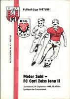 DDR-Liga 87/88 BSG Motor Suhl - FC Carl Zeiss Jena II, 19.09.1987