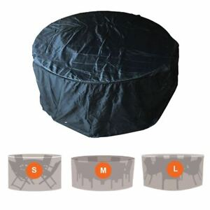 PROTECTIVE OUTDOOR GARDEN FURNITURE COVER RATTAN PATIO TABLE CHAIR PROTECT BLACK