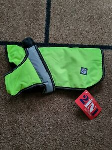 Waterproof Dog Coat 2 In 1size 14 Inches new