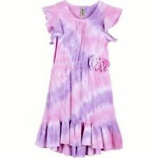 NEW MIGNONE Girls' Tie-dyed High/low Hemline Dress Pink and Lilac 3T