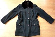 bhs Ladies Mallard Vintage Virgin Wool Green Winter Coat Size UK 10 EUR 38