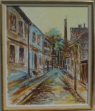 Straßenansicht- Venedig -Ölgemälde  datiert 1950 Italien Mailand