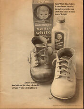1969 Vintage ad for Sani-White Shoe polish`Baby Shoes (122913)