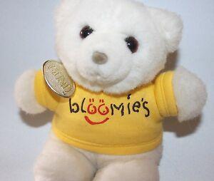 Vtg Gund Bloomie's Bear Plush Stuffed Animal Yellow Shirt & Tag Bloomingdale's