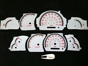 00 01 02 03 TOYOTA TUNDRA ALL MODELS V6 V8 WHITE FACE DASH BOARD CLUSTER GAUGES