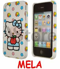 Cover Custodia Per iPhone 4/4S/4G Hello Kitty Mela Rossa rigida