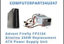 Advent Firefly FP3104 Slimline 250W fuente de alimentación ATX de reemplazo