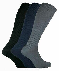 1 Pair Mens Thin 100% Cotton Extra Long Knee High Lightweight Ribbed Dress Socks