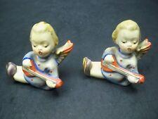 Pair of Vintage Hummel Goebel Angels Cherubs Candle Holders Tmk-2 Full Bee 1956