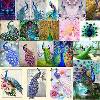 Peacock 5D Diamond Painting Embroidery Cross Crafts Stitch Kit Home Decor Gifts