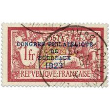 FRANCE N°182 CONGRÈS PHILATÉLIQUE DE BORDEAUX, TIMBRE OBL, SIGNE-1923
