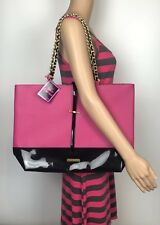 Juicy couture hot pink & black shopping bag