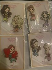 Ariel And Sisters Little Mermaid Chibi Fantasy Pins