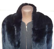 NEW $2445 Giorgio Armani Black A-line Jacket 44 Rabbit Stole US 8 10