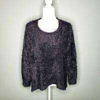 Vince Camuto Womens Eyelash Knit Sweater Sz Large soft stretchy cozy long sleeve