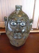 """Incredible Famous Lanier Meaders Pottery Face Jug - White County, GA - 10"""""""