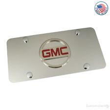 GMC Circular Logo On Polished License Plate
