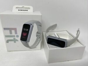 Samsung Galaxy Fit 24mm Silver Case Smart Watch DEFECTIVE - FOR PARTS
