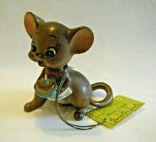 Cute Vtg Joseph Originals Mouse Village Happy Birthday Figurine Japan with Tag