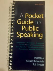 A Pocket Guide to Public Speaking 6th Edition Dan O'Hair